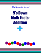 9's down math facts: addition