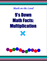 9's down math facts: multiplication