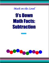 9's down math facts: subtraction