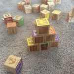 stacks of blocks on carpet