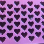 Protein power gummy recipe in a heart mold