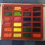 broken crayons in a rectangle silicone mold