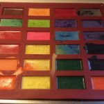 Melted crayons in a silicone rectangle mold