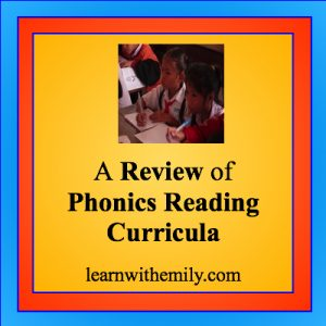 A review of phonics reading curricula learn with emily dot com