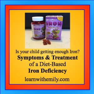 Is your child getting enough iron? Symptoms and Treatment of a diet-based iron deficiency, learn with emily dot com