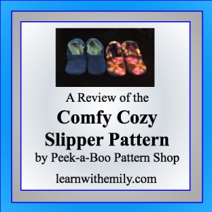A review of the comfy cozy clipper pattern by peek-a-boo pattern shop, learn with emily dot com