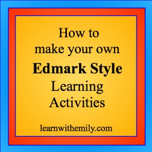How to make your own Edmark style learning activities