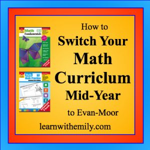how to switch your math curriculum mid-year to evan-moor, learn with emily dot com