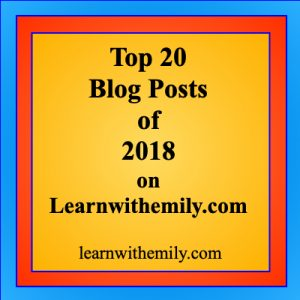 top 20 blog posts of 2018 on learn with emily dot com