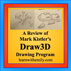 a review of Mark kilter draw 3d online drawing program, learn with emily dot com