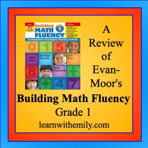 a review of evan-moor's building math fluency grade 1, learn with emily dot com