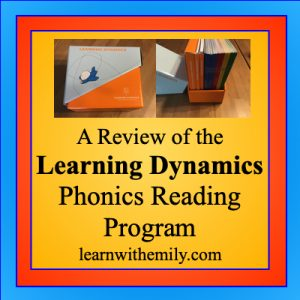 a review of the learning dynamics phonics reading program, learn with emily dot com