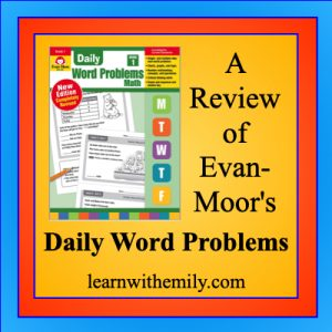a review of evan-moor's daily word problems, learn with emily dot com