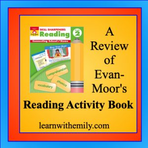 A review of evan-moor's skill sharpeners reading activity book for grade 2, learn with emily dot com
