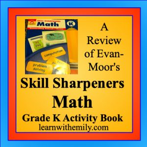 a review of evan-moor's skill sharpeners math grade k activity book