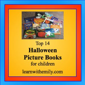 Top 14 Halloween Picture Books for children, learn with emily dot com