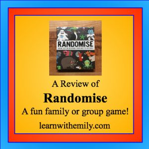 A review of Randomise: a fun family or group game, learn with emily dot com
