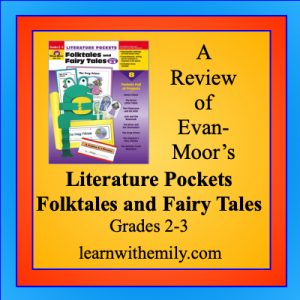 a review of evan-moor's literature pockets folktales and fairy tales grades 2 to 3, learn with emily dot com