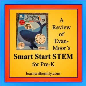 a review of evan-moor's smart start STEM for pre-K, learn with emily dot com